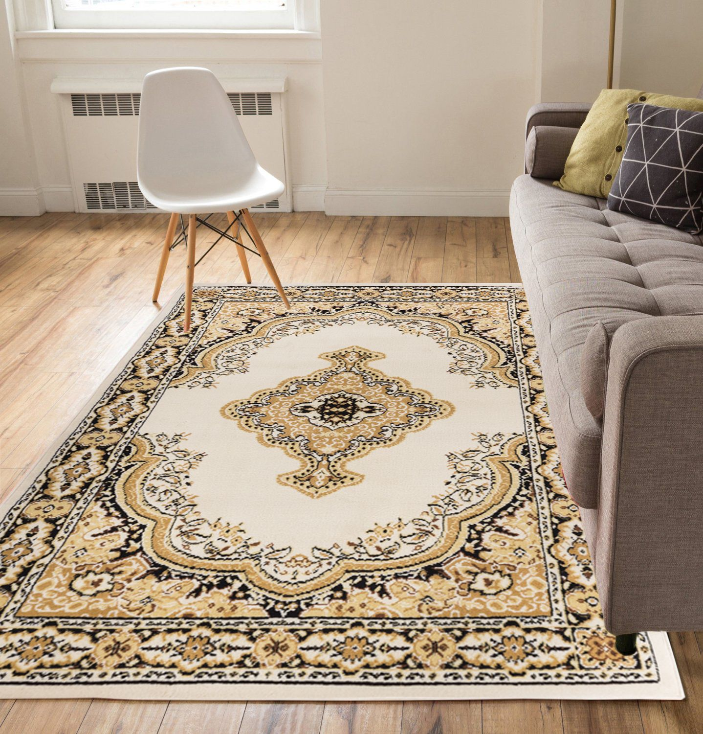 Well Woven Miami Tehran Traditional Medallion Red 5' x 7' Area Rug