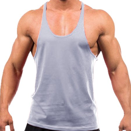 a86cbefa slickblue - Men's Tank Top for Bodybuilding and Fitness Stringer Sports Vest  Gym Singlets GREY -L - Walmart.com