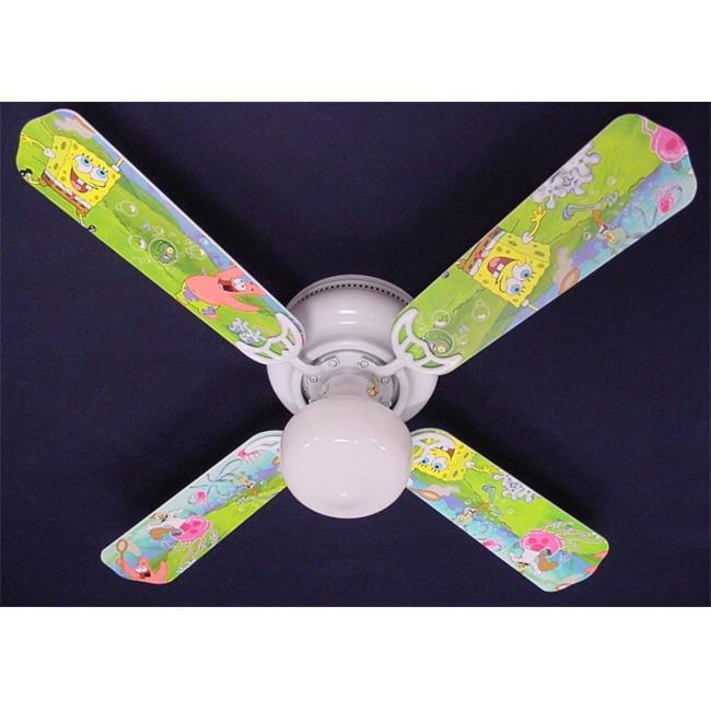 Ceiling Fan Designers 42FAN-KIDS-SBSP Sponge Bob Square Pants Ceiling Fan 42 inch