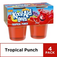 Jell-o Kool-Aid Gels Tropical Punch, 3.5 oz, 4 Count