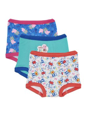 Peppa Pig Toddler Girls Potty Training Pants Underwear, 3-Pack