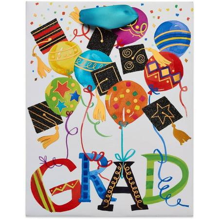 "Gift Bag, 7"" x 4"" x 9"", Graduation Balloons and Icons"