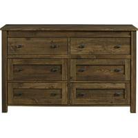 Better Homes & Gardens Falls Creek 6 Drawer Dresser, Weathered Dark Pine