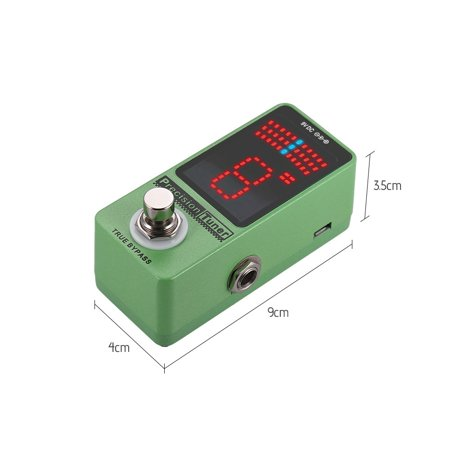Precision Tuner Pedal LED Display with True Bypass for Chromatic Guitar Bass