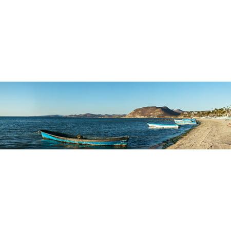 Fishing boats at beach La Paz Baja California Sur Mexico Poster Print by Panoramic