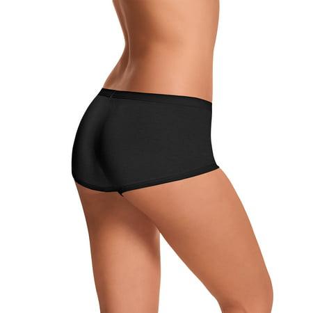 b1b60a3fb904 Hanes - Womens ComfortSoft Waistband Boyshort Panties 3-Pack - Walmart.com