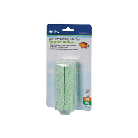 Phosphate Filter Pad - Quiet Flow 30/50 Phosphate Reducing Specialty Filter Pad, Help to remove excess phosphate that contributes to algae growth By Aqueon