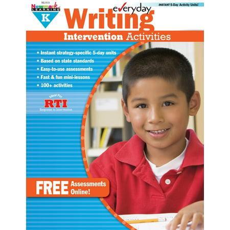 Everyday Writing Intervention Activities Grade K