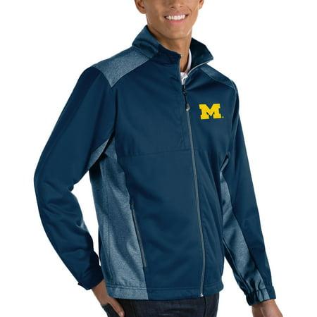 Michigan Wolverines Antigua Big & Tall Revolve Full-Zip Jacket - Navy