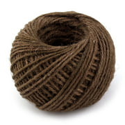 Jute Burlap Ribbon Twine Rope Cord String Roll Dark Brown 2mm Dia 50m Length