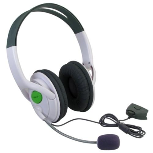 Insten Gaming Headset with Mic For Microsoft Xbox 360 / Xbox 360 Slim (Live Chat Microphone)