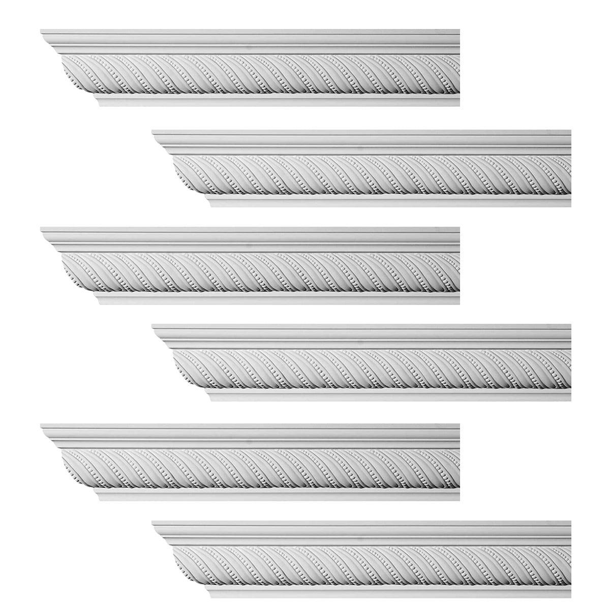 ornate cornice white urethane queensborough design  pieces totaling  length walmartcom