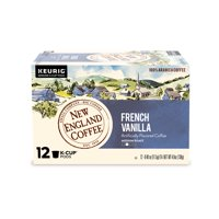 New England Coffee French Vanilla Coffee K-cup Pods, 12 Count