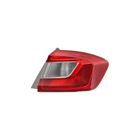 Tail Light - Pacific Best Inc. For/Fit 16-18 Chevrolet Cruze Sedan Tail Lamp Assembly Left Hand Driver Outer On Body;