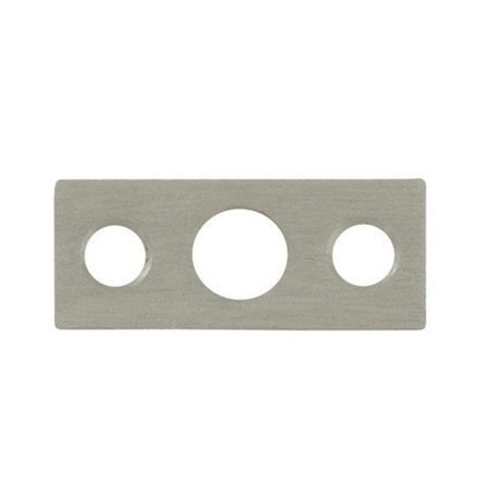 Deltana SP7FBR15 Strike Plate for 7 in. Flush Bolt, Satin Nickel - Solid