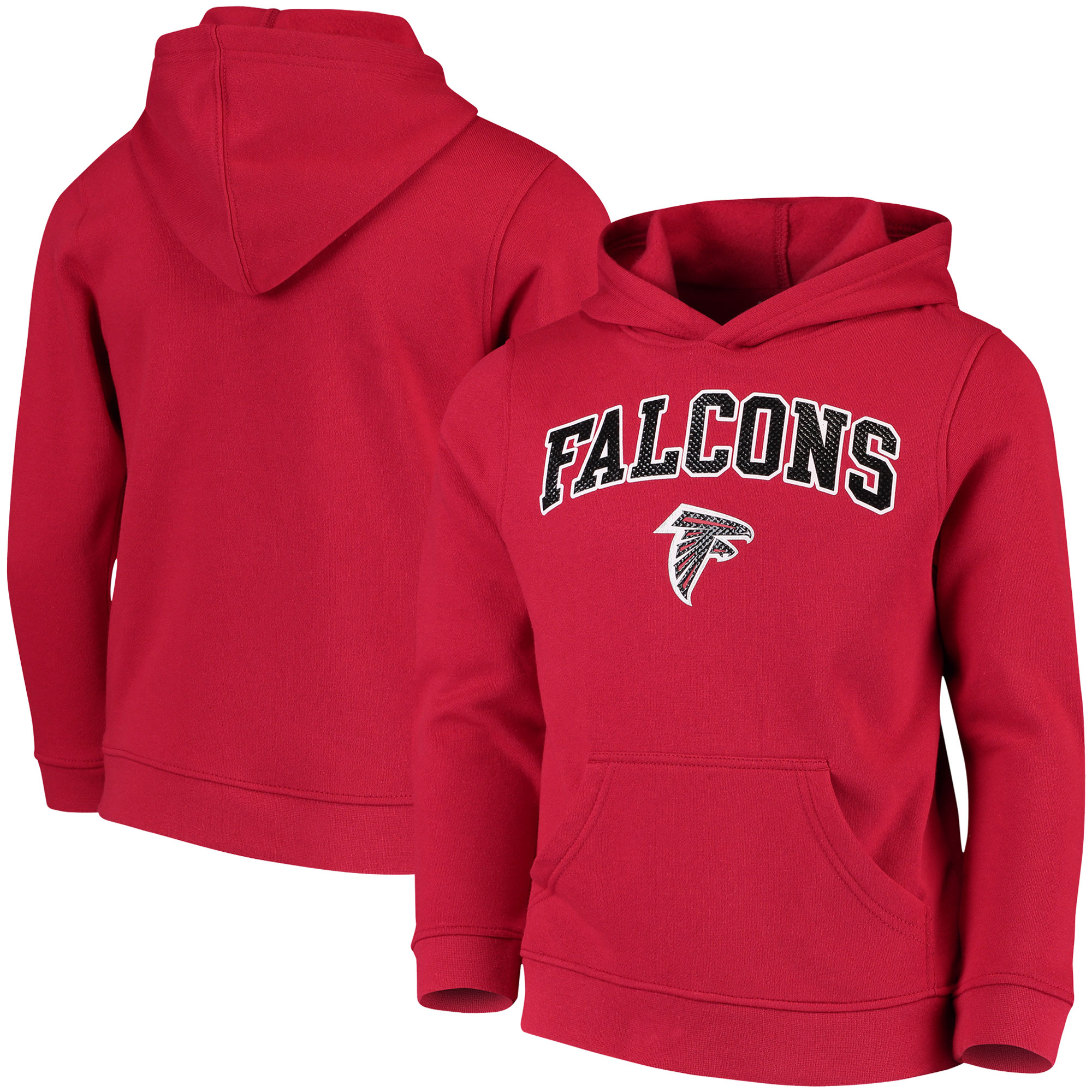 Youth Red Atlanta Falcons Clear Gel Fleece Hoodie