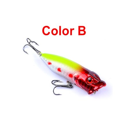 10PCS Topwater Popper Fishing Baits And Lures Freshwater Bass Bait Minnow Crankbaits With Hooks Tackle 7.3cm 12g 1PCS-B thumbnail