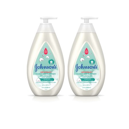 Johnson's CottonTouch Baby Wash & Shampoo, Twin Pack, 2 x 27.1 fl.
