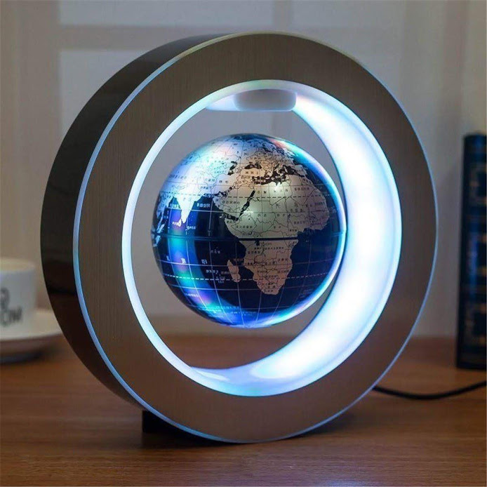 4 Inch High Rotation Magnetic Suspension Levitation Globe With LED Light  Electronic Floating Globe For Learning