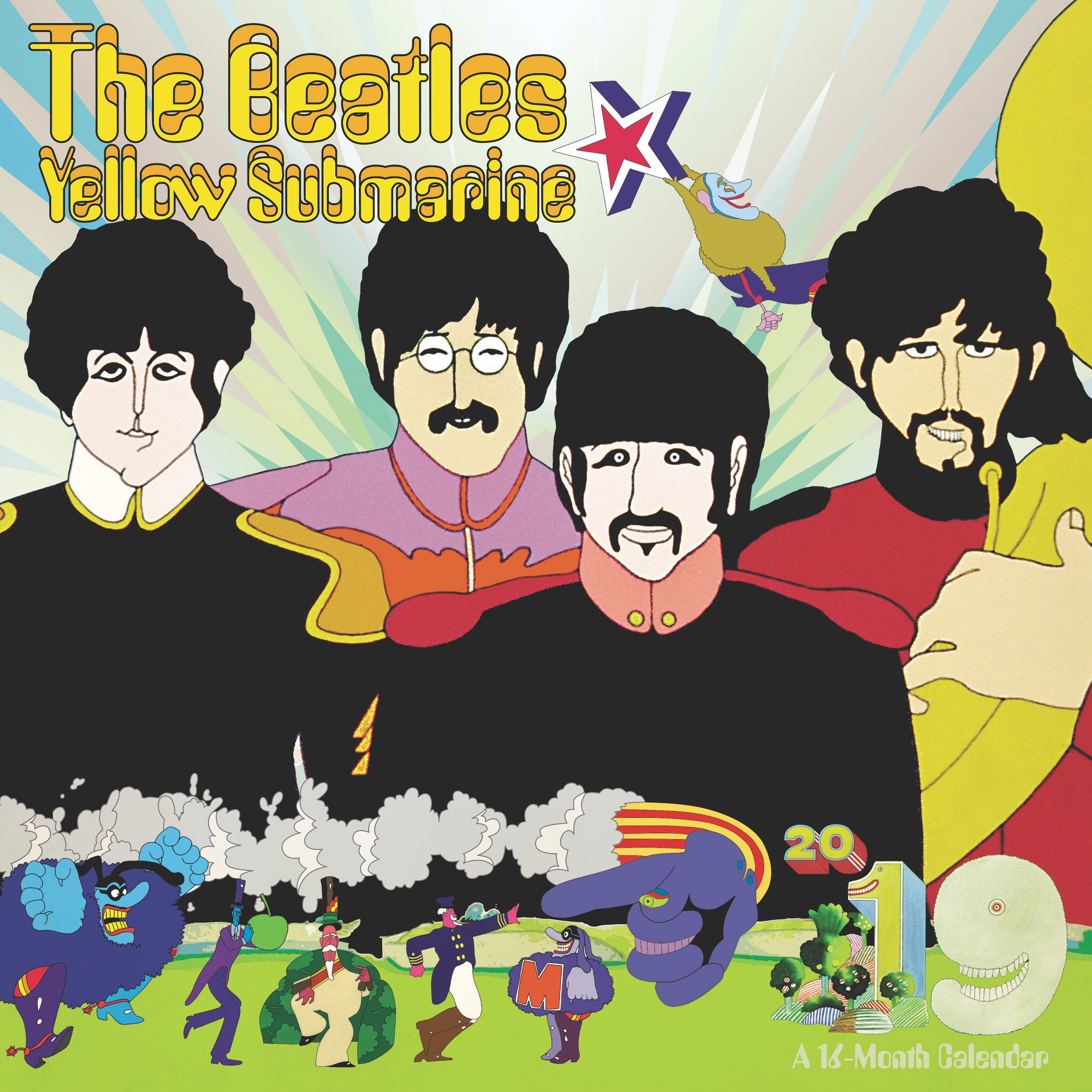 Day Dream The Beatles Yellow Submarine Wall Calendar - Wall Calendars