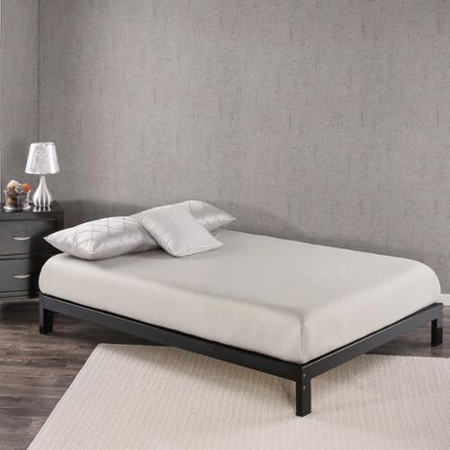 Priage Platform Black Twin Bed