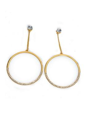 e93a314a49 Product Image Womens Fashion Jewelry Rhonestones Hoop Dangle Earrings  COE277-Gold. Genx