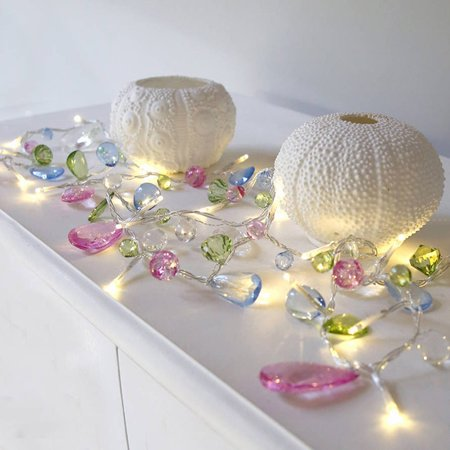 Decorated Crystal (Crystal Beads Lamp Household Wedding Room Decorated With Beads Hanging Lamps)