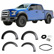 Fits 15-19 FORD F150 STYLESIDE POCKET-RIVET STYLE FENDER FLARES Quality Matters