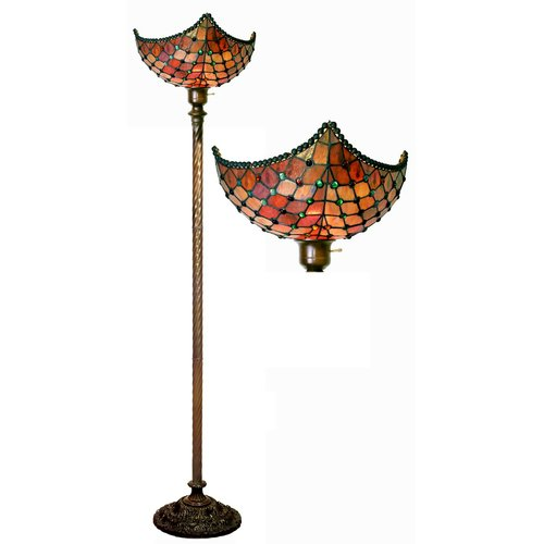 Warehouse of Tiffany Beaded 72'' Torchiere Floor Lamp