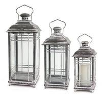Melrose International Gray Lantern - Set of 3