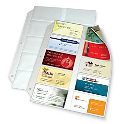 Style Business Card Files Refill - Office Depot Business Collection Card File Binder Refill Pages, 8 1/2in. x 11in., Pack Of 10, 7856 000