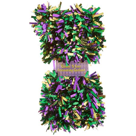 6-Ply FR Gleam 'N Fest Festooning Garland (gold, green, purple) Party Accessory (1 count), This item is a great value! By - Festooning Garland