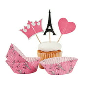 Perfectly Paris Baking Cups W/Picks - Party Supplies - 100 Pieces
