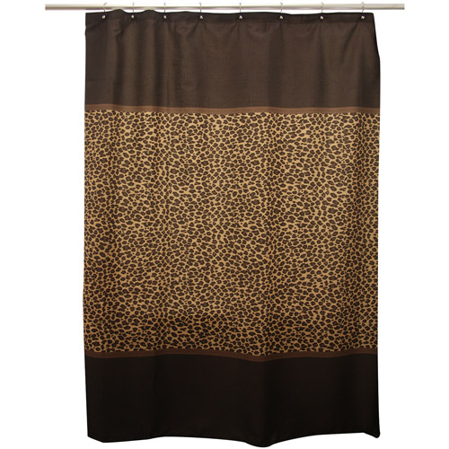 Famous Home Fashions Shower Curtain, Leopard Brown