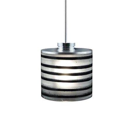 Jesco Lighting QAP702-BK-SN 1 - Light Monorail Quick Adapt Low Voltage Pendant - Black - Satin Nickel - image 1 of 1