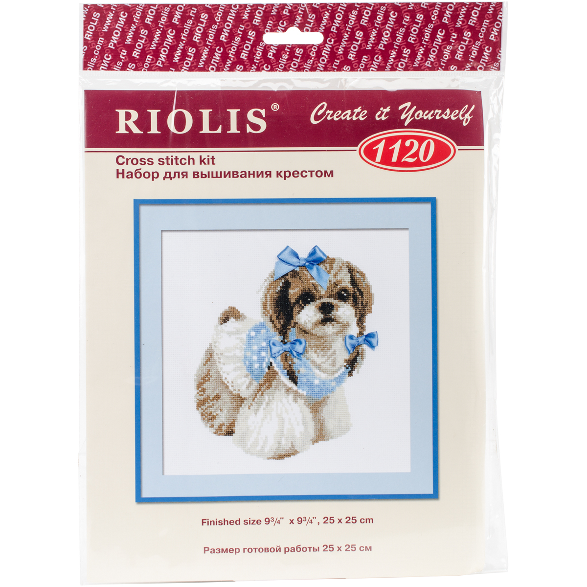 Shih Tzu Dog Cross Stitch Kit