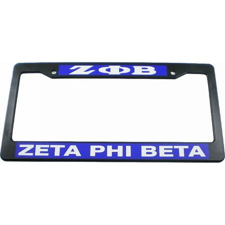 Zeta Phi Beta Plastic License Plate Frame [Black - Car/Truck] - Omega Psi Phi License Plate