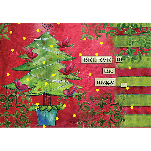 "Artisan ""Believe In the Magic"" Petite Christmas Cards"