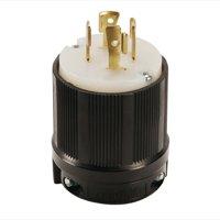 NEMA L16-20 Grounding Locking Plug, 20A 480V AC, 3 Pole 4 Wire, cUL Listed