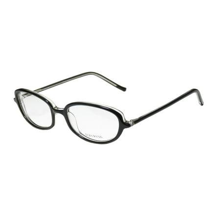 New Vera Wang V40 Womens/Ladies Designer Full-Rim Black Durable Trendy Made In Japan Frame Demo Lenses 49-17-133 Eyeglasses/Eye
