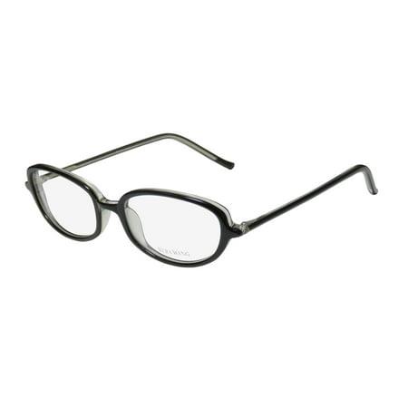 New Vera Wang V40 Womens/Ladies Designer Full-Rim Black Durable Trendy Made In Japan Frame Demo Lenses 49-17-133 Eyeglasses/Eye (Trendy Glasses)
