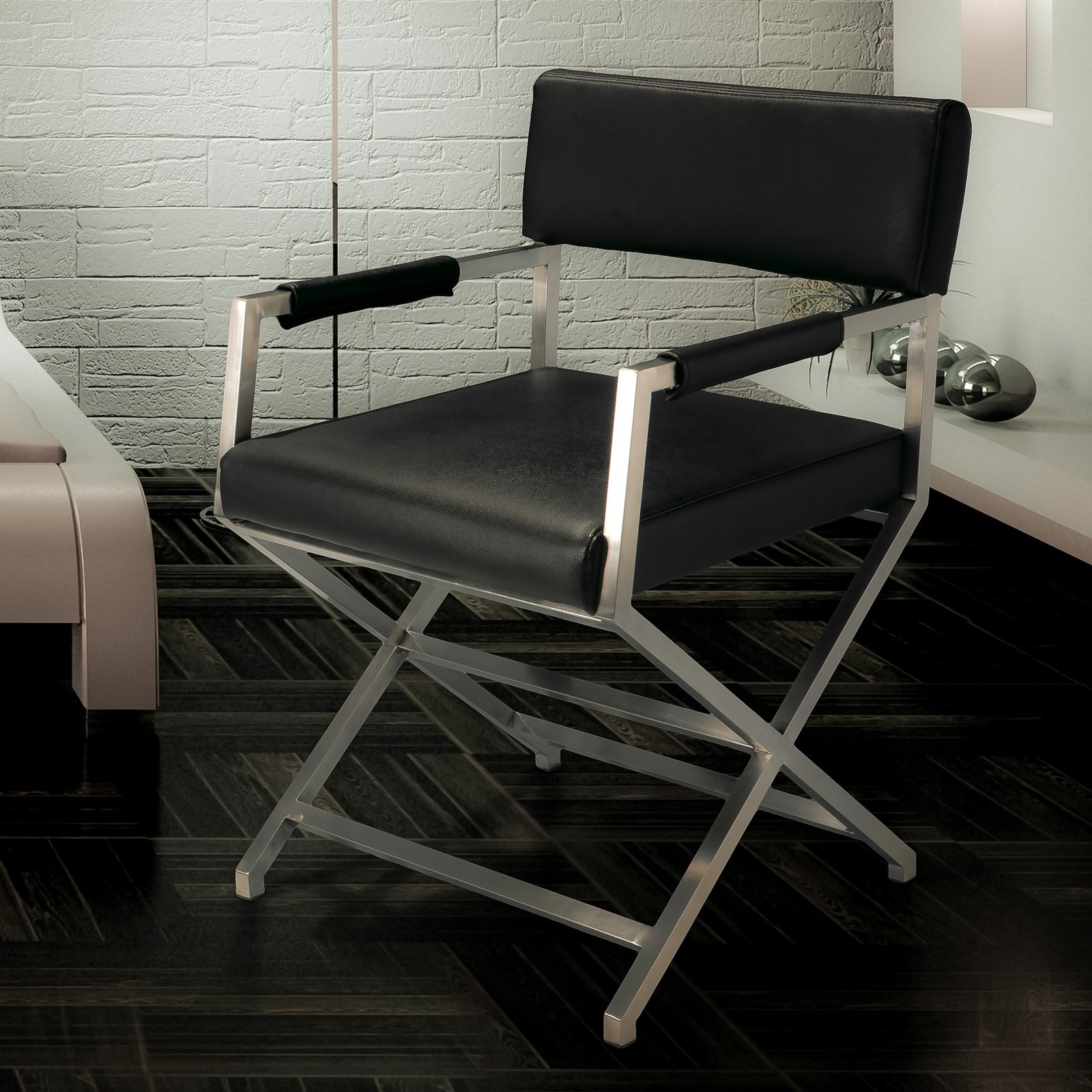 Home Loft Concepts Hardin Leather Dining Chair