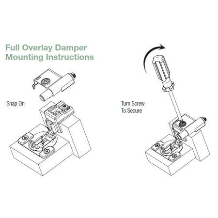 (5 Pack) Bag of 10 Discontinued Soft-Close Door Damper