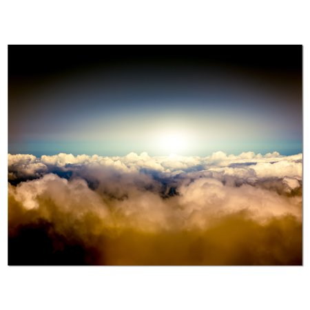 Gloomy Sky above Clouds - Contemporary Landscape Canvas Art - image 1 of 3