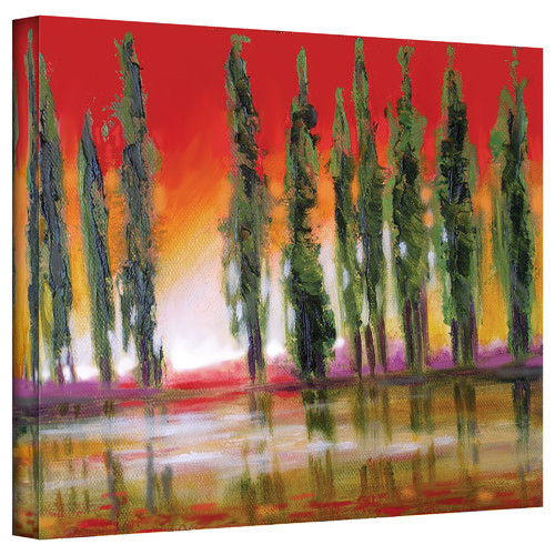 ArtWall 'Tuscan Cypress Sunset' by Susi Franco Graphic Art on Canvas