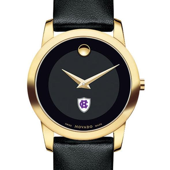 Holy Cross Women's Movado Gold Museum Classic Leather by Movado