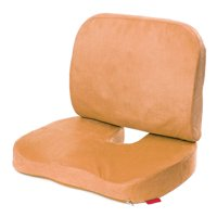 Quality Memory Foam Orthopedic Pillow Seat Cushion and Lumbar Support For Car Office Computer Chair Wheelchair Tailbone, Coccyx & Sciatica Pain Relief Washable Cover