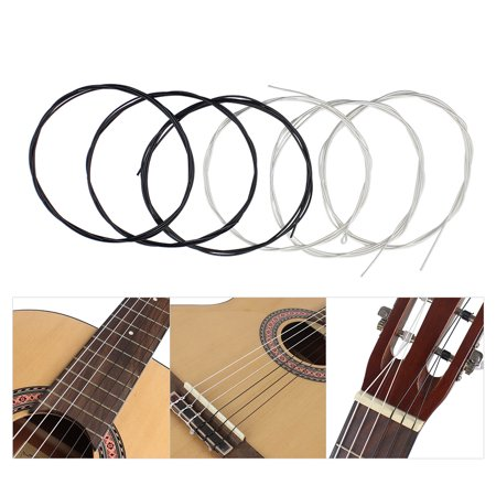 6pcs/set (.028-.043) Classical Guitar Strings Nylon Two Colors Normal Tension