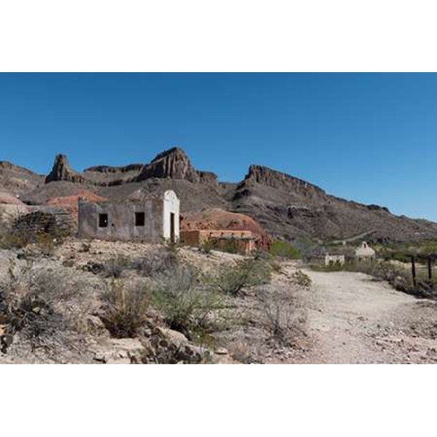 Abandoned Movie Set Along The Rio Grande River In Big Bend