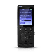"AGPTEK A11 8GB PCM Digital Audio Voice Recorder & MP3 Music Player, Built-in Loudspeaker,1.8"" TFT color screen, Black"